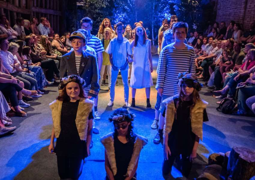 Pupils from Debenham High School perform The Tempest at Crow's Hall. PICTURE: CHRISTOPHER GROVER.