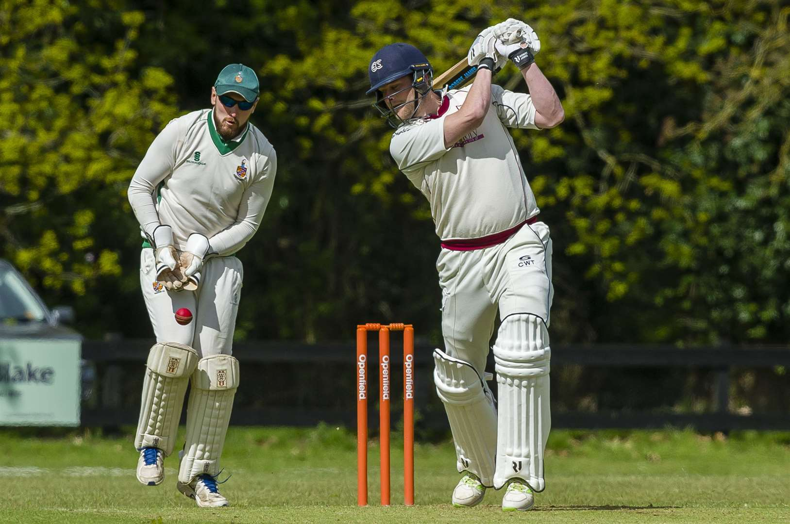 Charlie Tunstall of Old Buckenham bats during the Alliance Premier League match between Old Buckenham and Horsford II...Picture: Mark Bullimore Photography. (11524622)