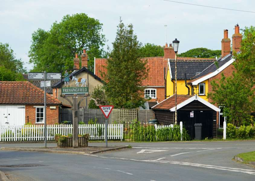 Fressingfield, Suffolk. Fressingfield is facing development of over 100 homes in the village. ''Picture: MARK BULLIMORE