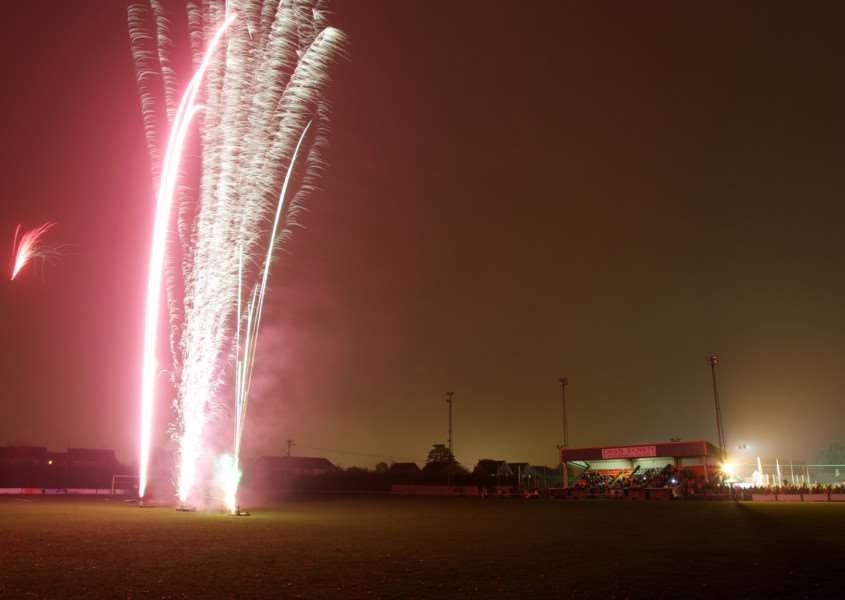 Diss, Norfolk. Firework Dispaly at Diss Town Football Ground ENGANL00120110711100808