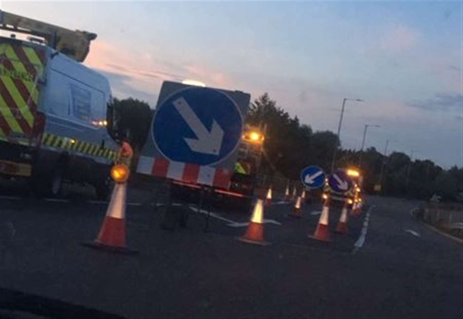 UPDATE: Motorists advised to find alternative routes after tractor and trailer overturns