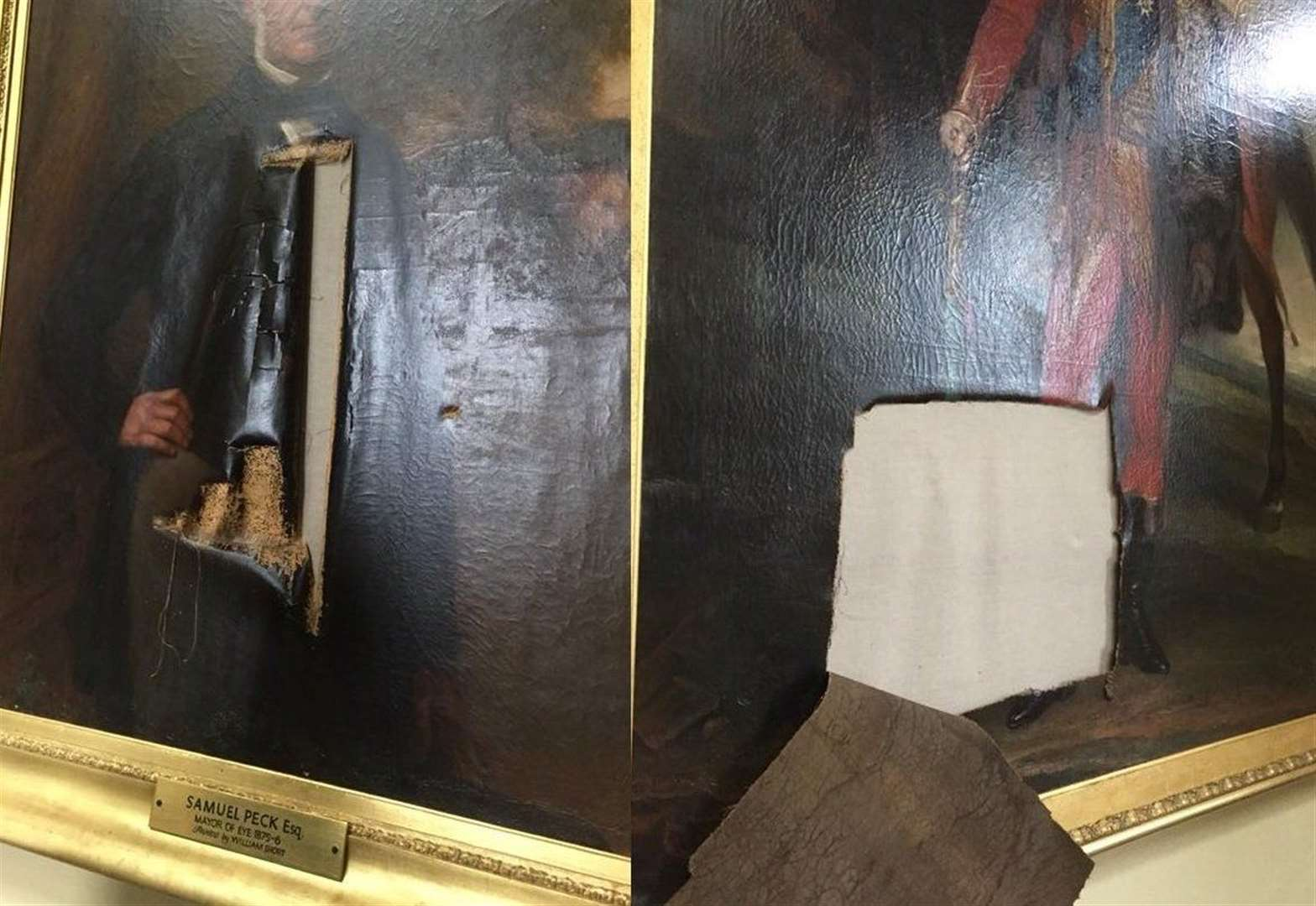 Man arrested in connection with damage to historic paintings at Eye Town Hall