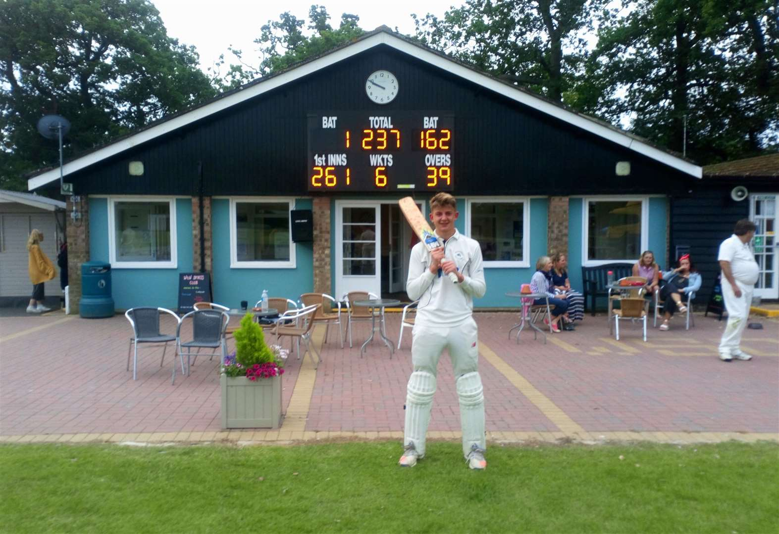 Mildenhall youth impresses with both bat and ball in academy match