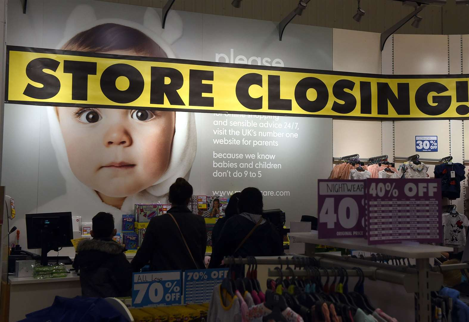 Mothercare closing down sale begins at Ipswich and Norwich stores