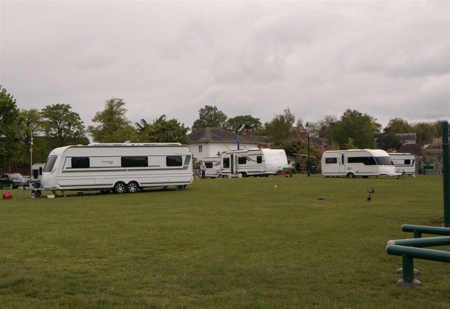 Travellers leave Diss ahead of court action