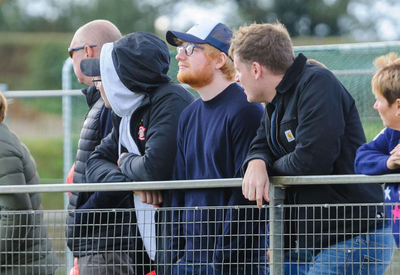 Ed Sheeran spotted cheering on wife at hockey game