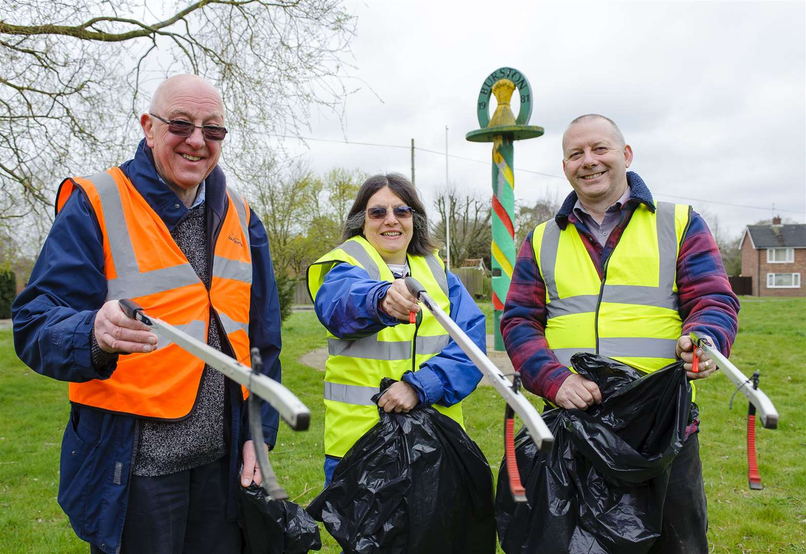 Villagers join forces to clear roads and lanes of litter
