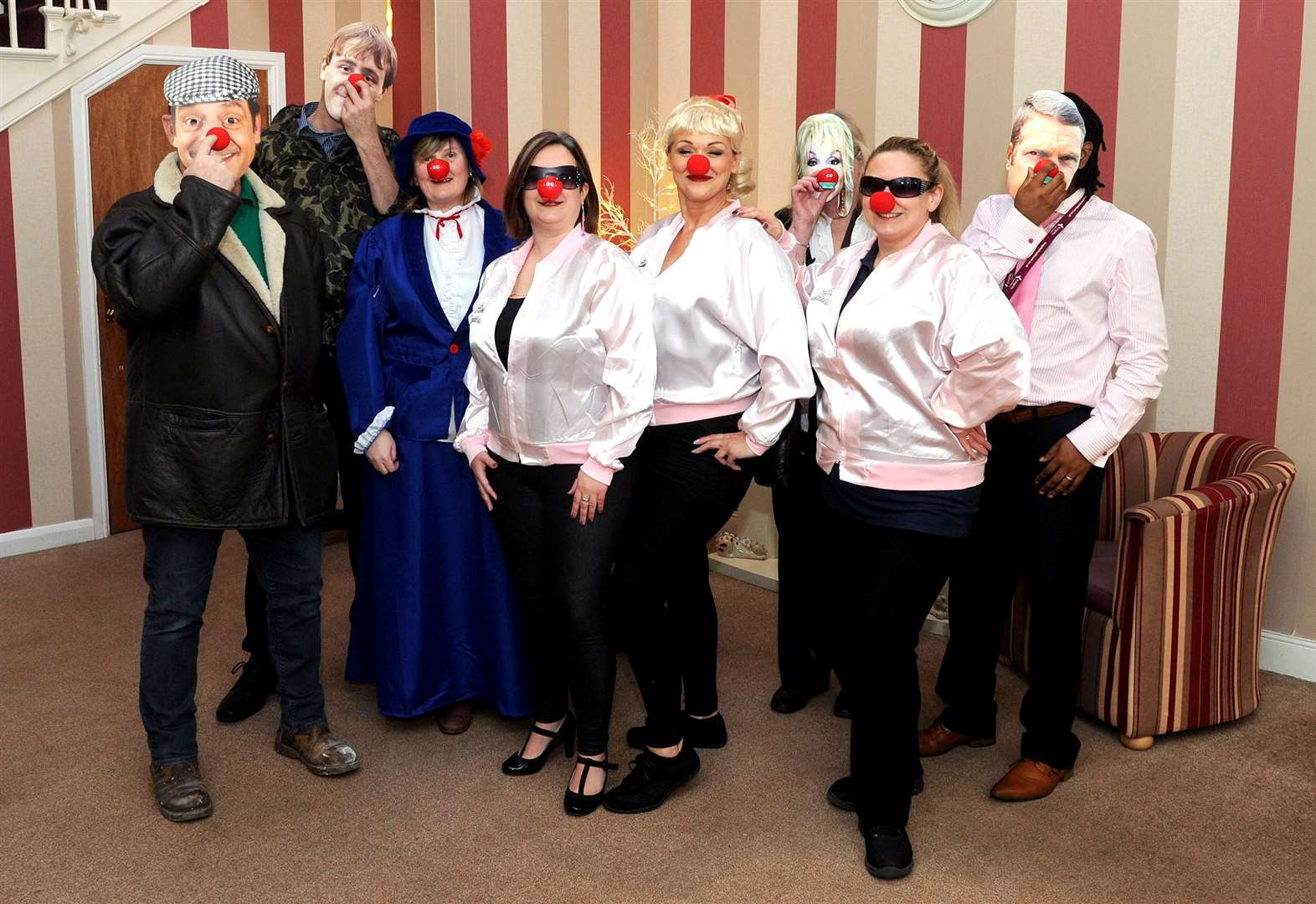 Scole care home goes back to the future for Comic Relief