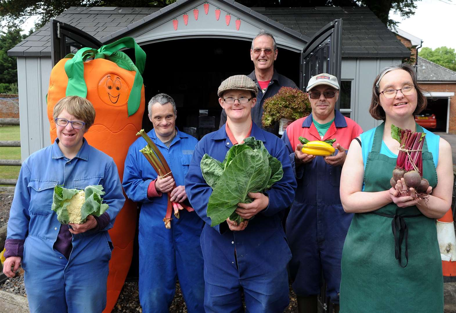 Weybread man combines growing vegetables with care work