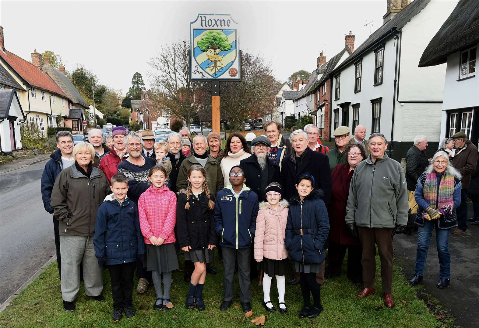 Proud moment for parishioners as village sign is unveiled