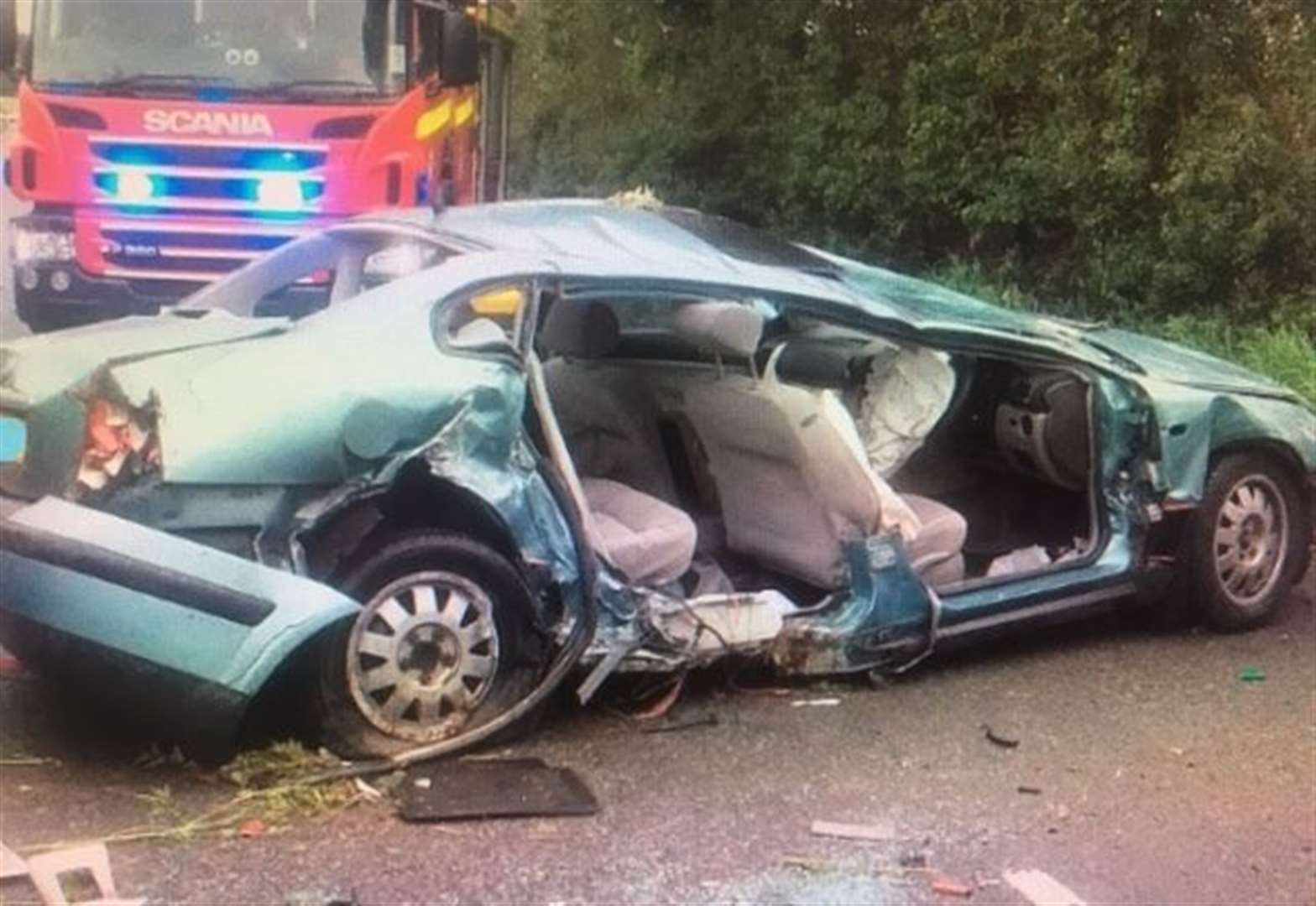 Man airlifted to hospital following crash involving two cars near Eye