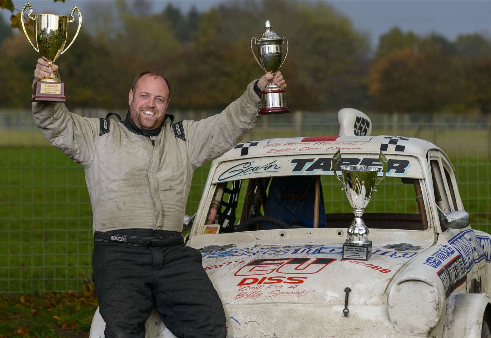 Roydon-based racer mounts successful defence of his title