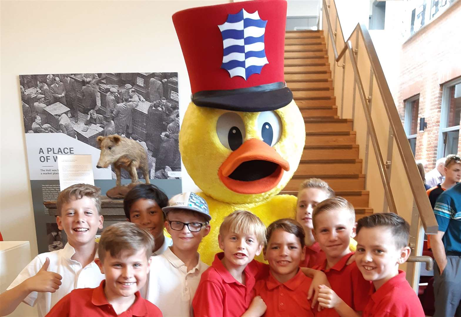 Pupils help exhibition get off to a 'quacking' start
