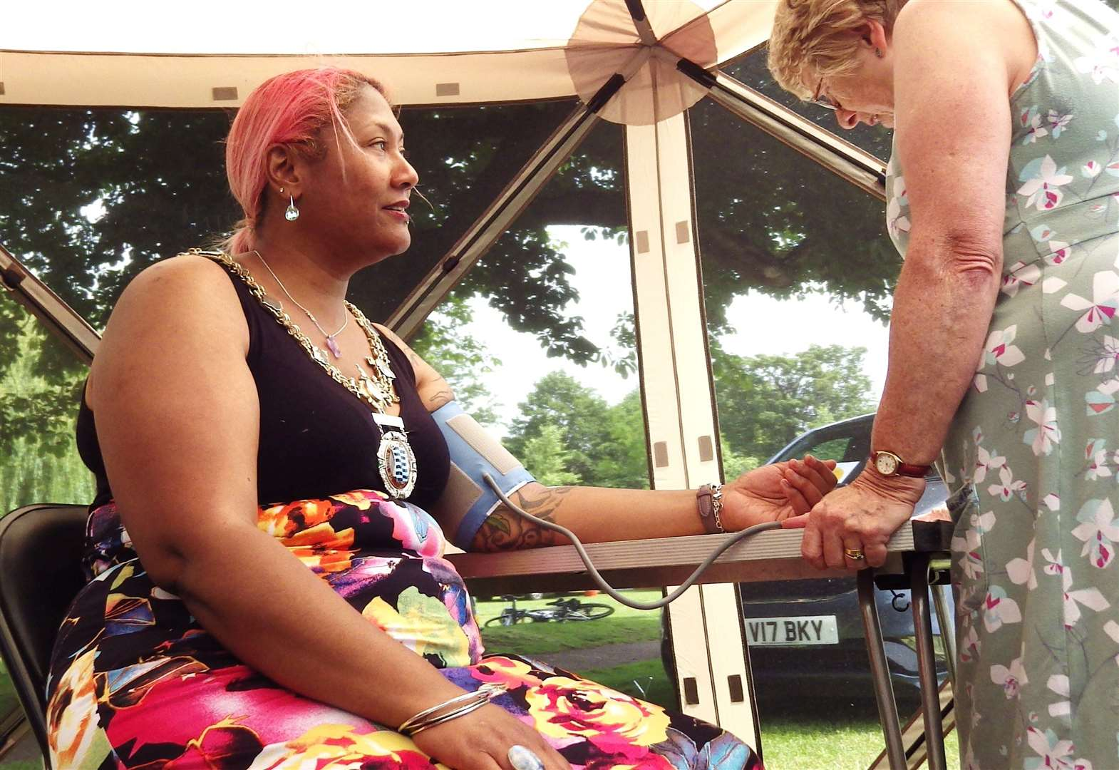 Mayor of Diss has blood pressure test