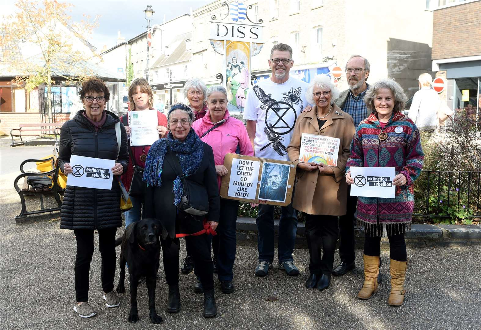 Activists from Diss and surrounding areas join climate protest in London
