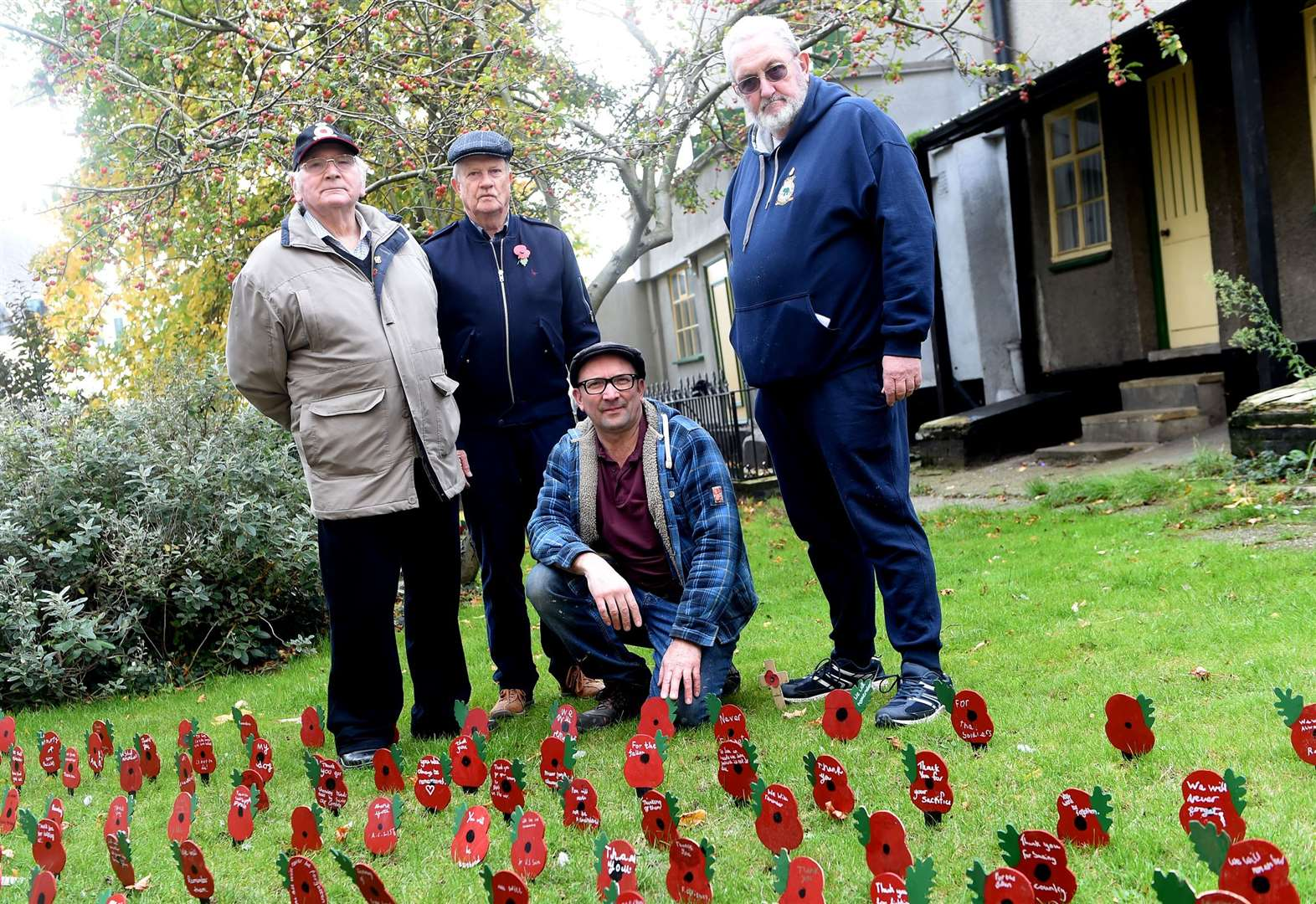 Vandals strike at commemorative poppy display