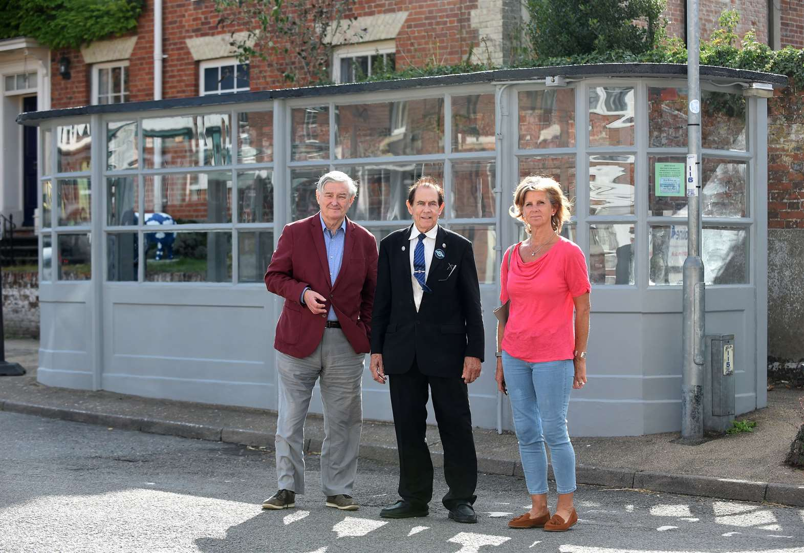 Tramcar-shaped bus shelter restored to its former glory