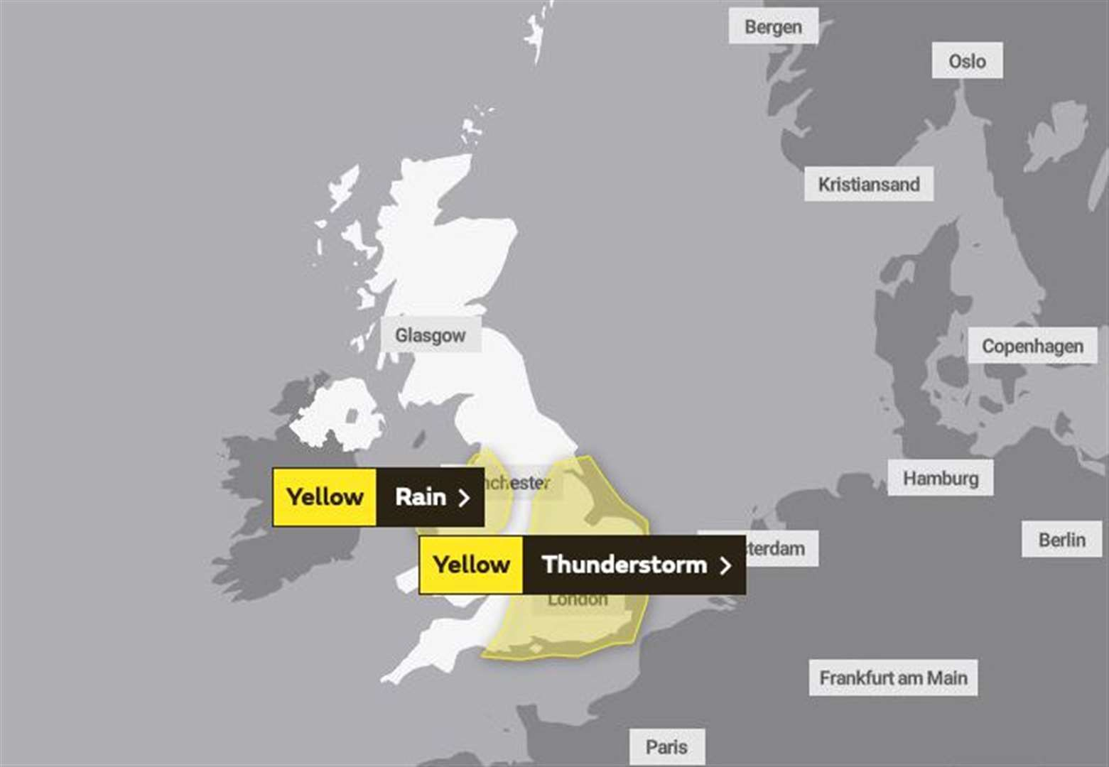 Thunderstorm weather warning remains in place for Norfolk and Suffolk