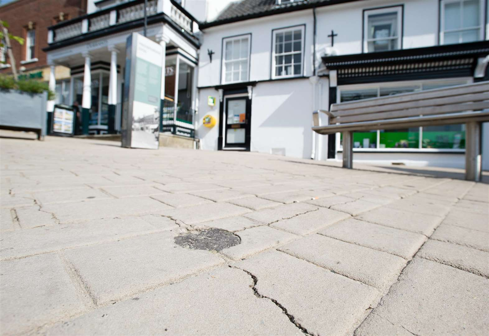 Paving cracks in Diss may never be explained
