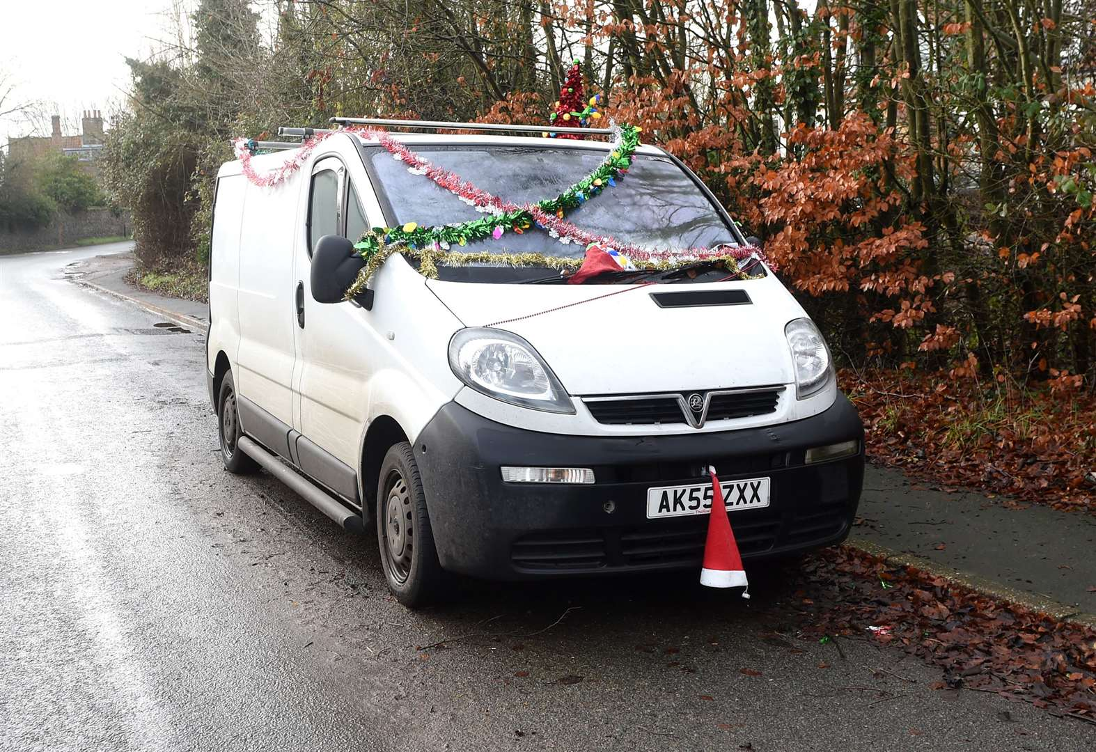 Decorated van sends important message to drivers