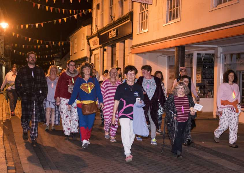 Diss - midnight walk to raise money for the Alzheimer's Society. Picture: Al Pulford.