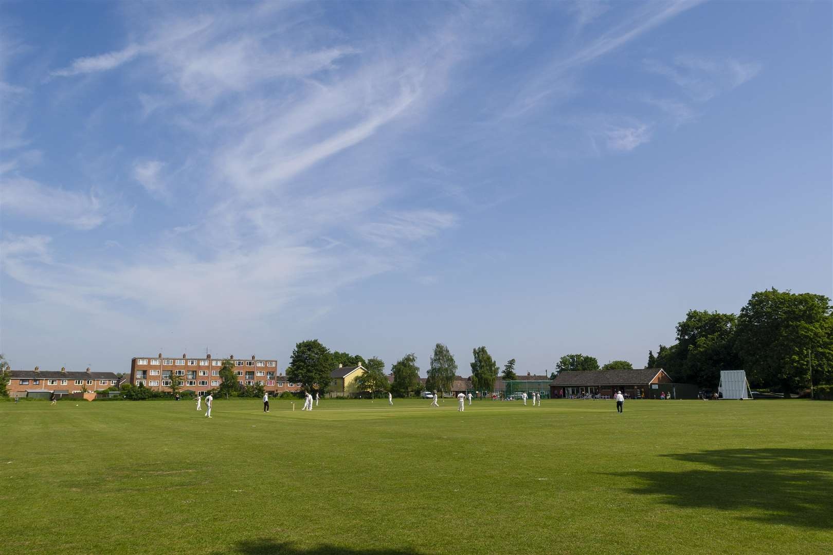 Diss, Norfolk. Cricket action from Diss vs Stow - Diss Bowling - ..Picture: Mark Bullimore Photography. (2239334)