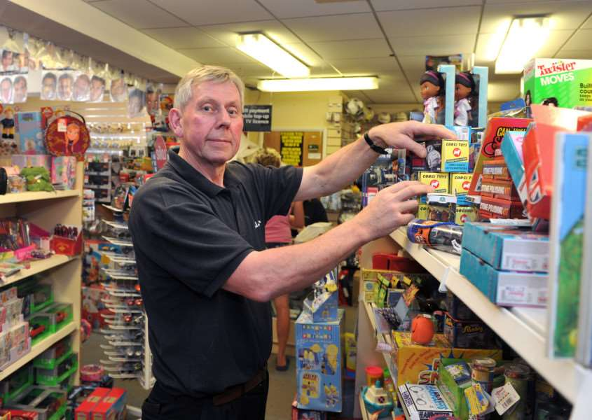 Bill Bulstrode, who is closing down his shop, Bulstrodes, ending his 45 year career as a Framlingham businessman ANL-150107-155050009