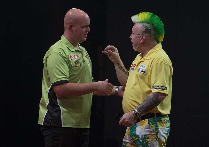 Michael Van Gerwen during his semi-final match with Peter Wright