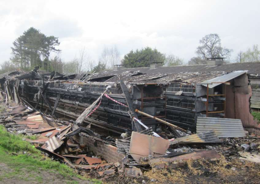 Images from Norfolk Police show the extent of the damage from a fire in Stratton St Michael last month. Two boys from the Long Stratton area have been arrested in connection with two incidents.