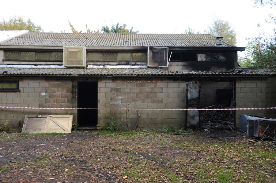 Arson attack on Bunwell Sports Hall ANL-161026-163022009