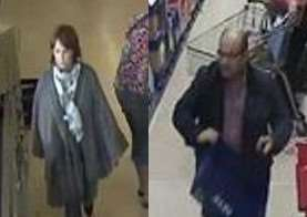 Police have released CCTV images of a man and woman they would like to speak to in connection with an incident of theft in Diss. ANL-150510-141750001
