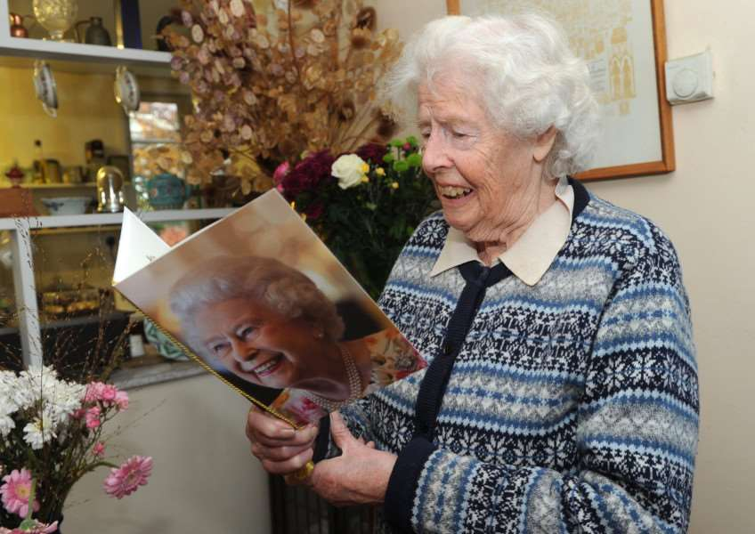 Ann Ward celebrated her 100th birthday on Monday ''''PICTURE: Mecha Morton