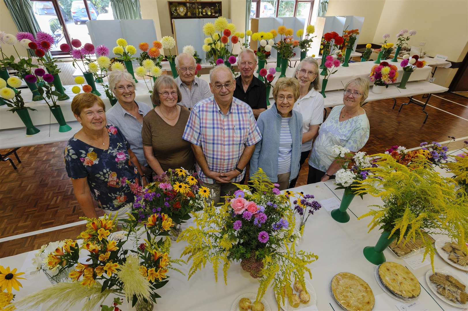 Diss and District Horticultural Society's early autumn flower show at Roydon village hall. Picture by Mark Bullimore.