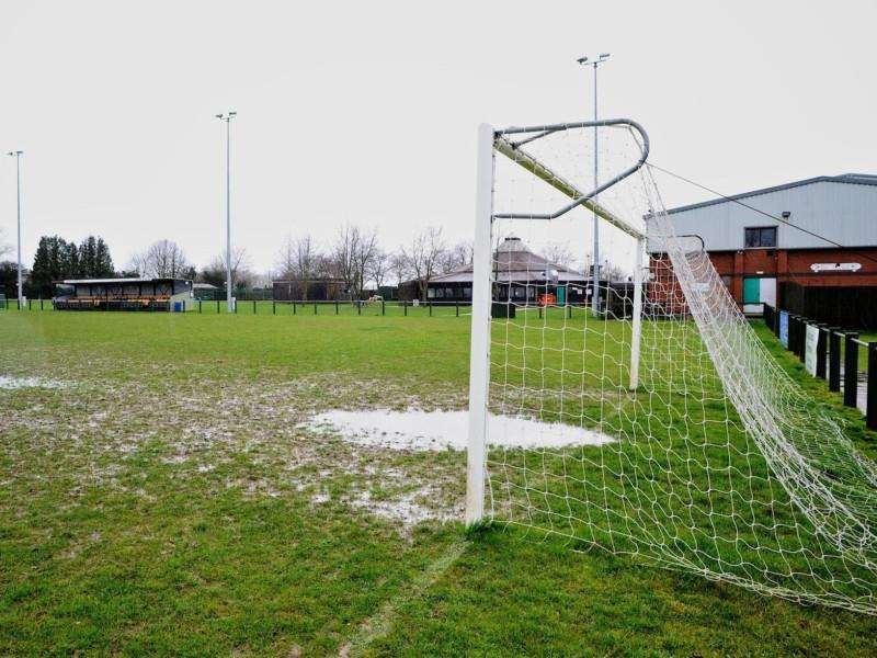UNPLAYABLE: This recent scene from Debenham LC was repeated at clubs across the county today