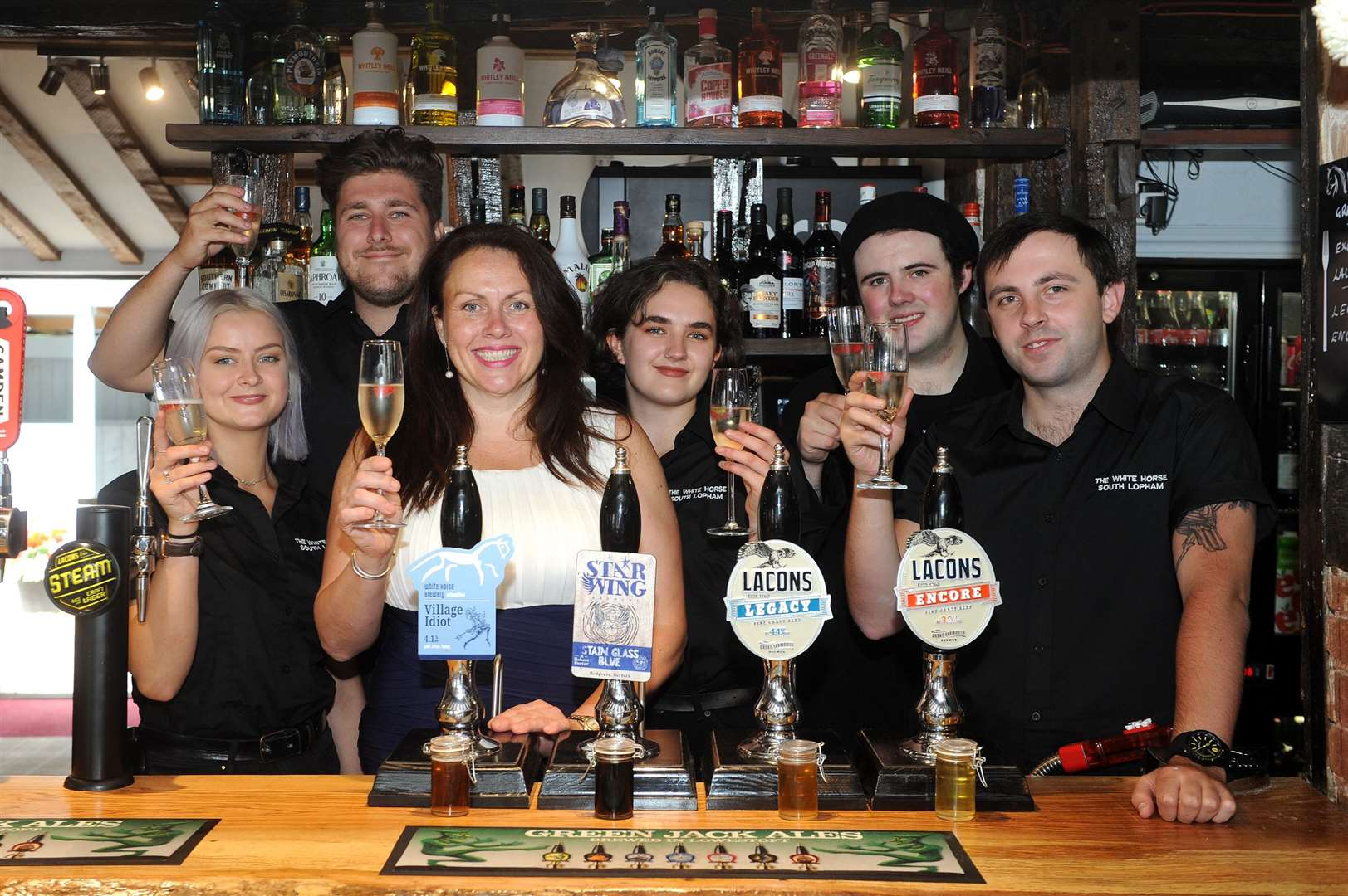 Staff at the White Horse are celebrating the completion of almost a month-long refurbishment. Picture by Mecha Morton.