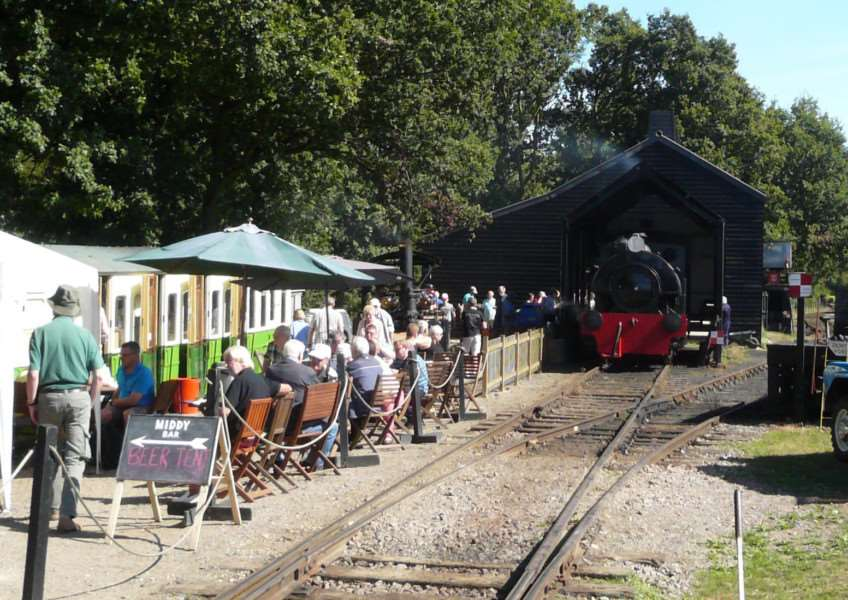 DRINK UP: The Kitchener Arms reopens at Mid Suffolk Railway.