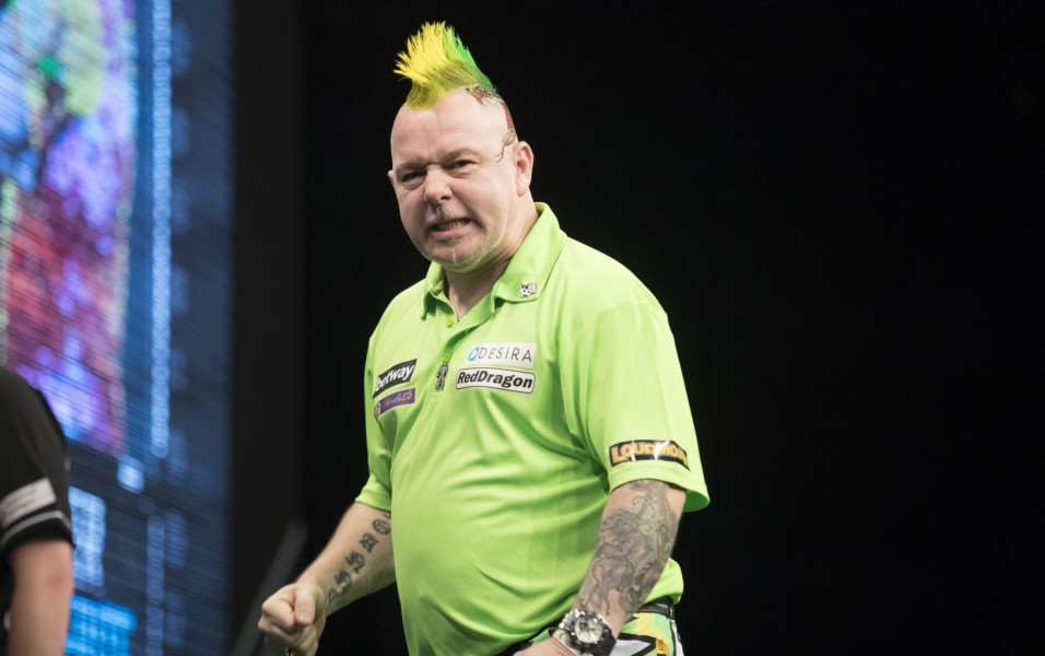 LEADING THE WAY: Peter Wright is top of the Premier League after nine weeks. Picture: Steve Welsh/PDC
