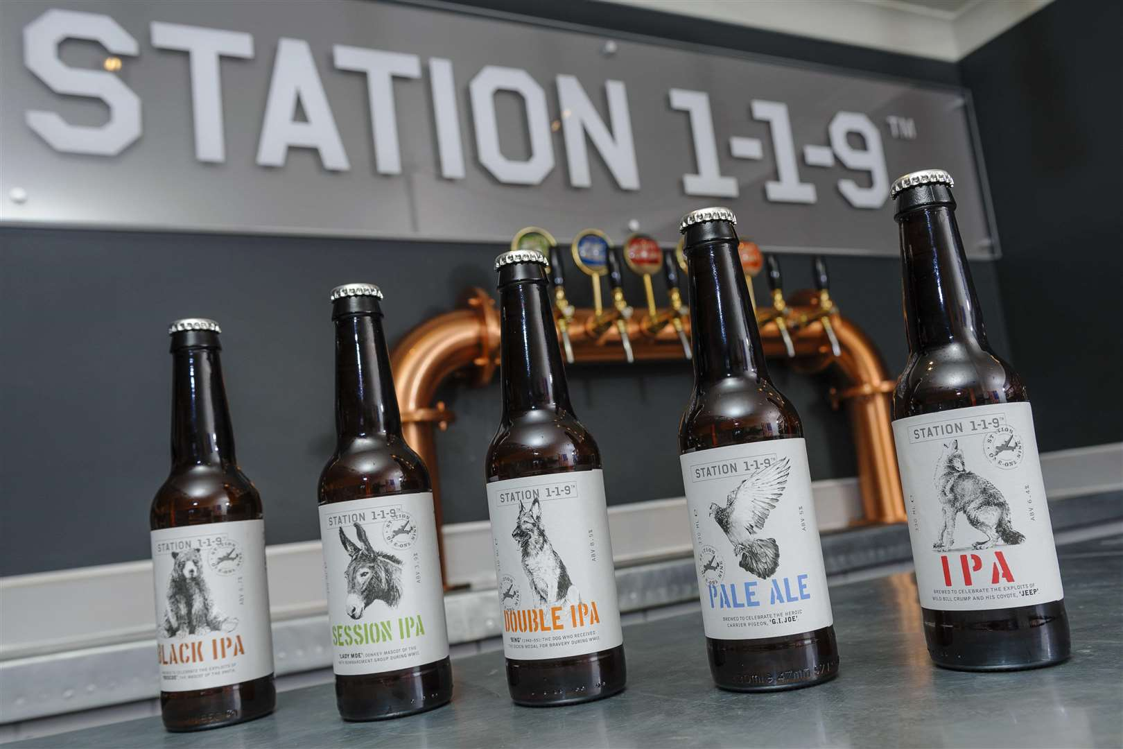 Station 119's bottles have now been redesigned and released for sale.
