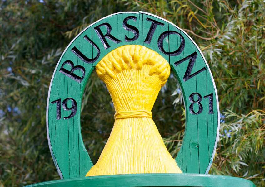 VILLAGE SIGN - BURSTON