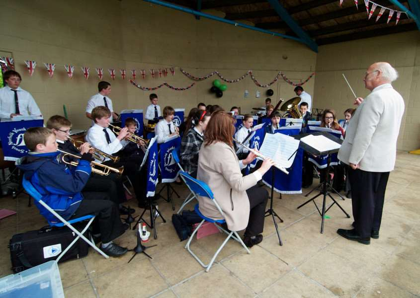 Diss, Norfolk. Queen's Diamond Jubilee Celebration pictured are the South Norfolk Youth Symphonic Band ENGANL00120120406094323