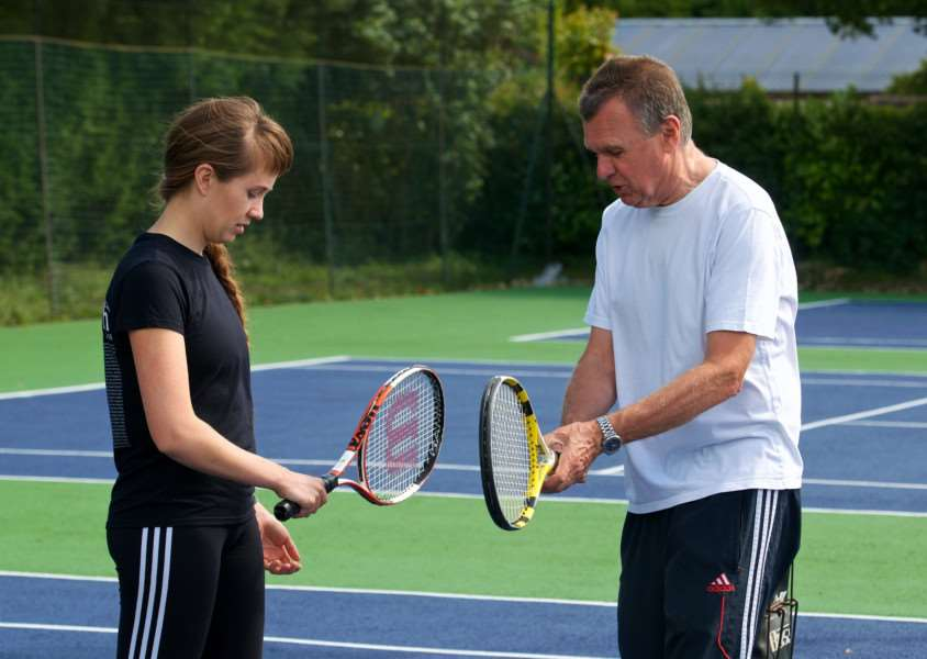 GOOD ADVICE: Coaching took place at Stradbroke Tennis Club on Saturday