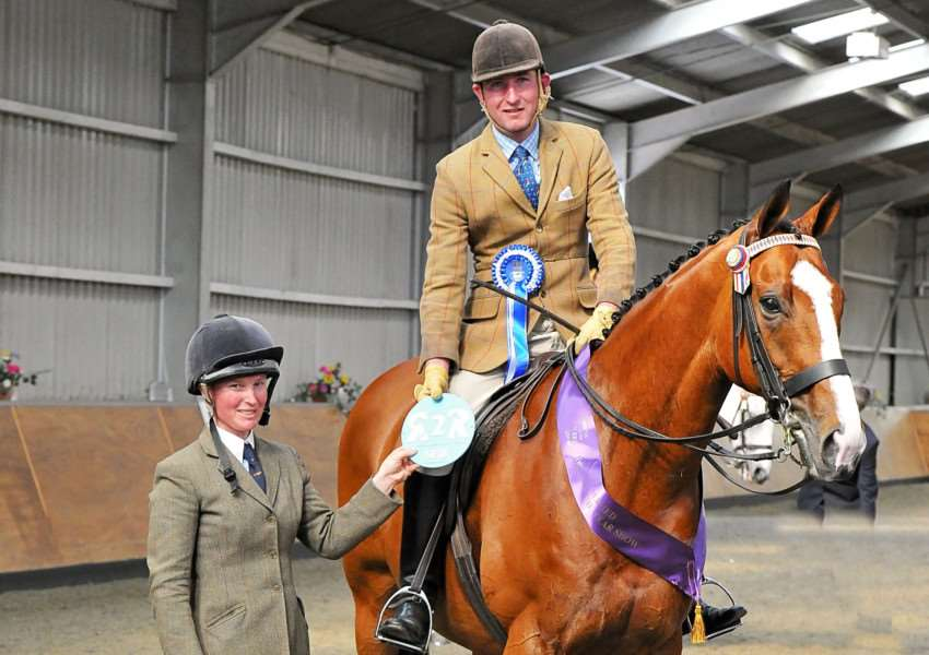 HEADING BACK: Oliver Hood and Royal Rock have qualified for the Horse of the Year Show Picture: SMR Photos