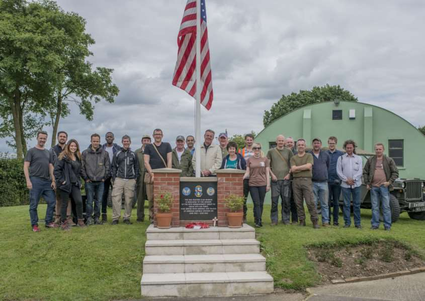 Madness's Suggs turns history buff, and in that role has recently visited the 95th Bomb Group Red Feather Club at Horham. Submitted picture.