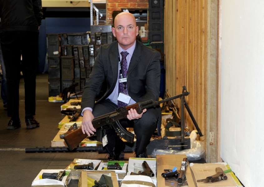 Suffolk Police held a media briefing on Operation Cannington ' the discovery of a weapons haul at Wyverstone in April 2014.''Pictured: Steve Mattin ANL-160218-153328001