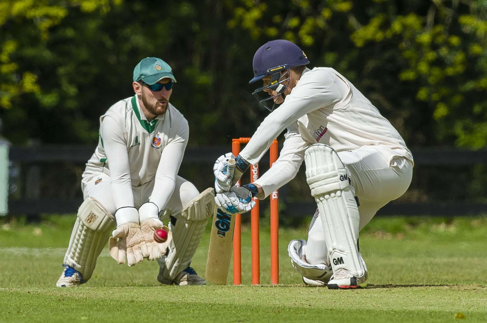 Matt Bint of Old Buckenham bats during the Alliance Premier League match between Old Buckenham and Horsford II...Picture: Mark Bullimore Photography. (9656719)
