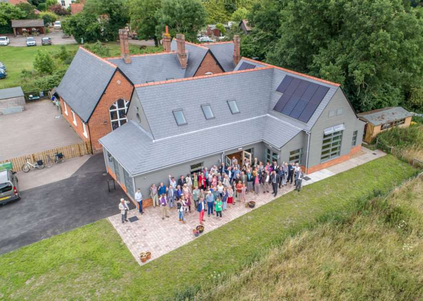 Gissing celebrates the opening of its new community building.