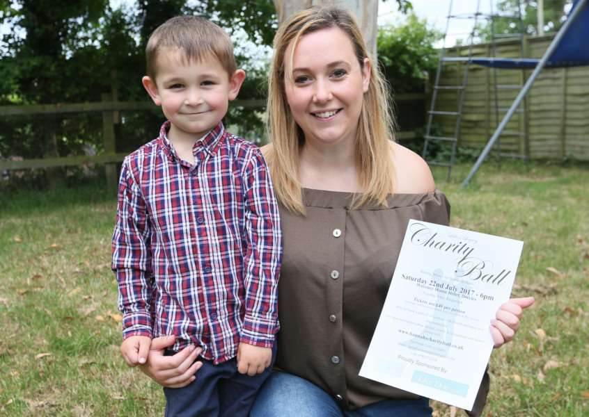 MDEP-24-06-2017-019 Hannah Day with her son Joshua . Hannah is organising a Charity Ball for Babes at Peace