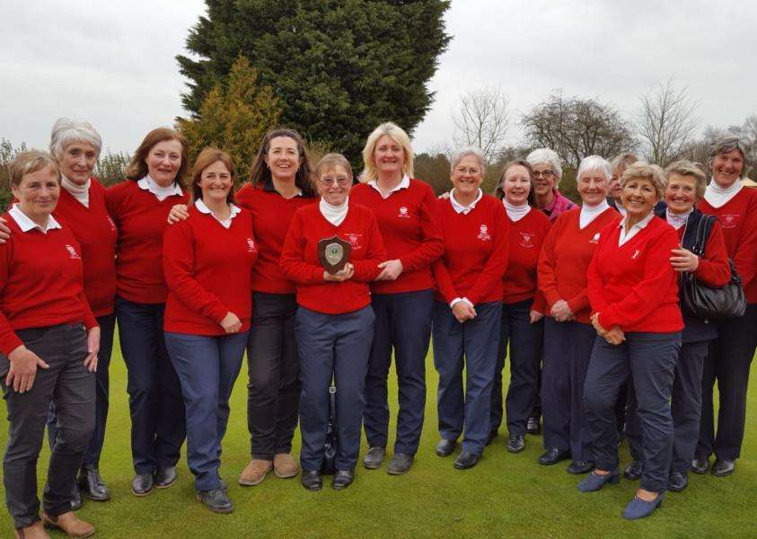CHAMPIONS: Diss GC were the winners of the Waveney Winter League