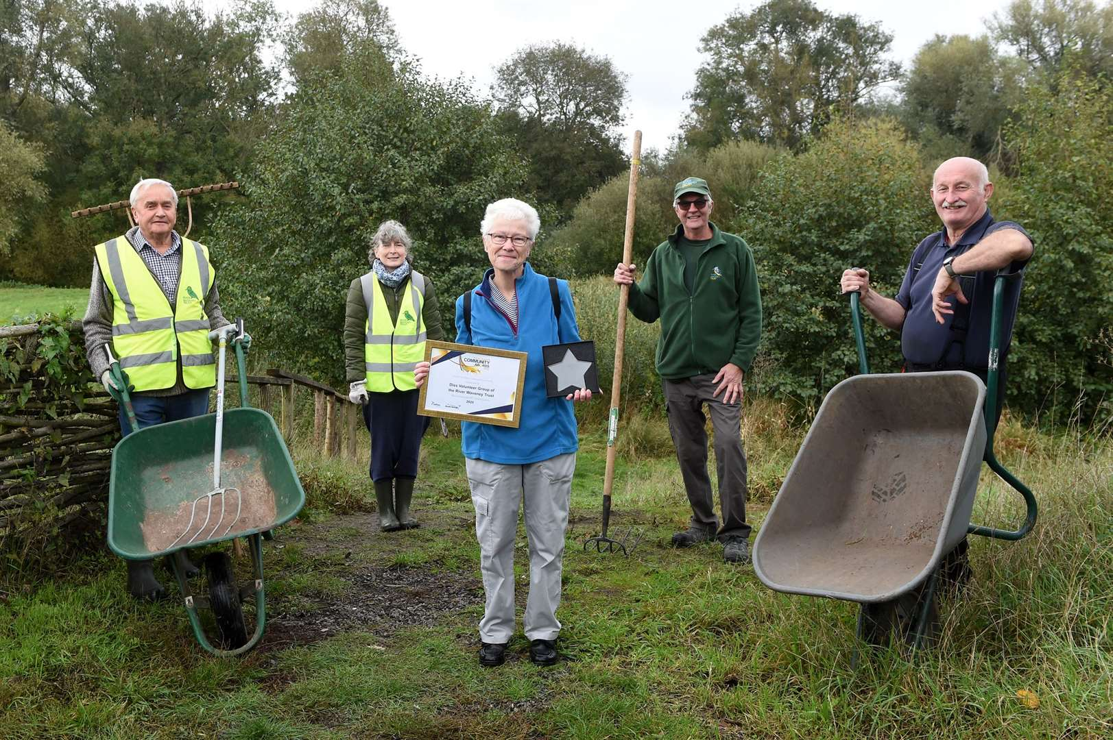 The group have been hailed as Environmental Champions of 2020, after ensuring Frenze Beck Nature Reserve was well looked-after during the pandemic.
