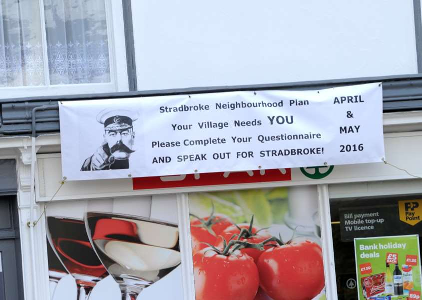 Stradbroke Neighbourhood Plan sign ANL-160427-153750009